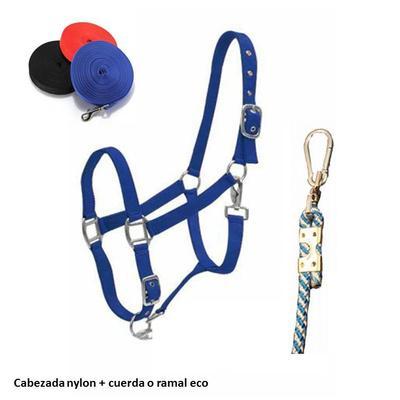 Cabezada nylon + ramal eco o cuerda