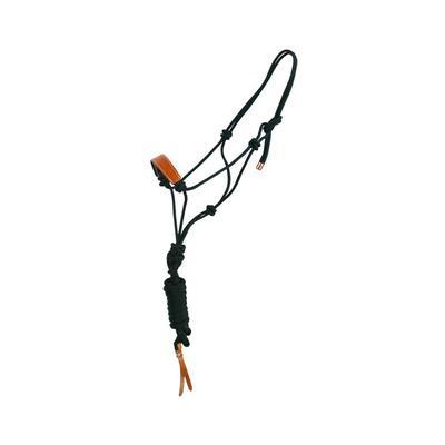 Cabezada cuerda Mustang frontal cuero + ramal