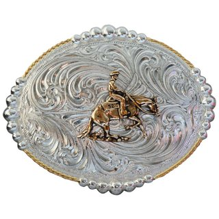 Reining oval silver