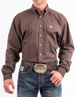 Cinch Shirt Man Brown