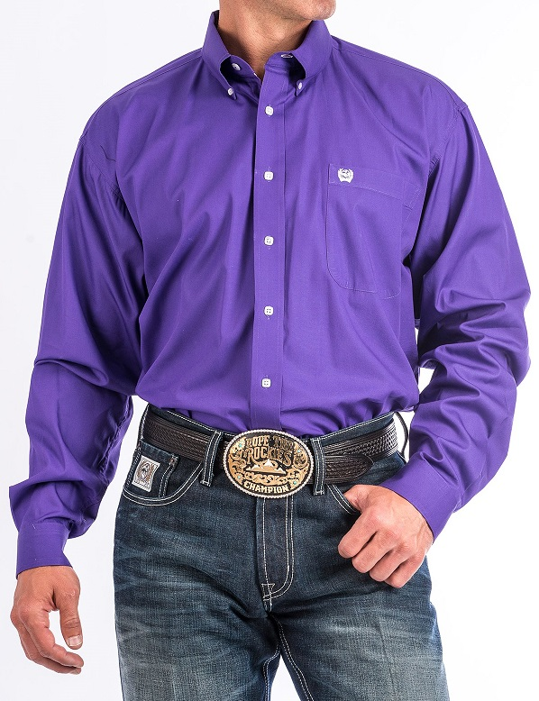 Cinch Shirt Man Purple